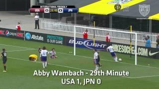 WNT vs. Japan: Abby Wambach Goal - May 14, 2011