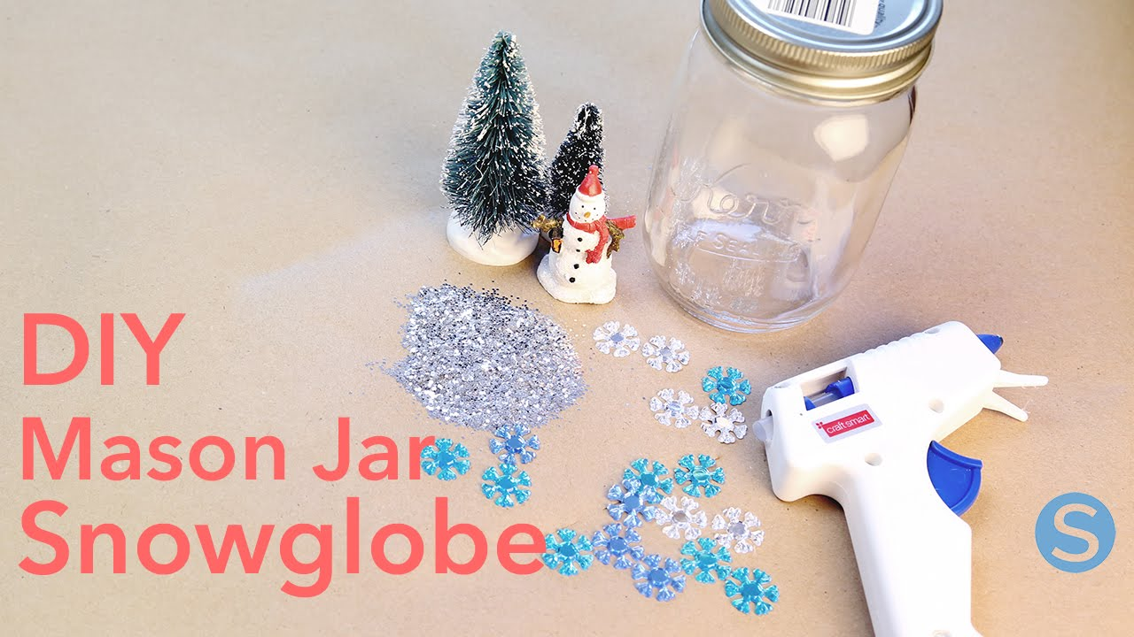 DIY Mason Jar Snowglobes How To Make This Craft