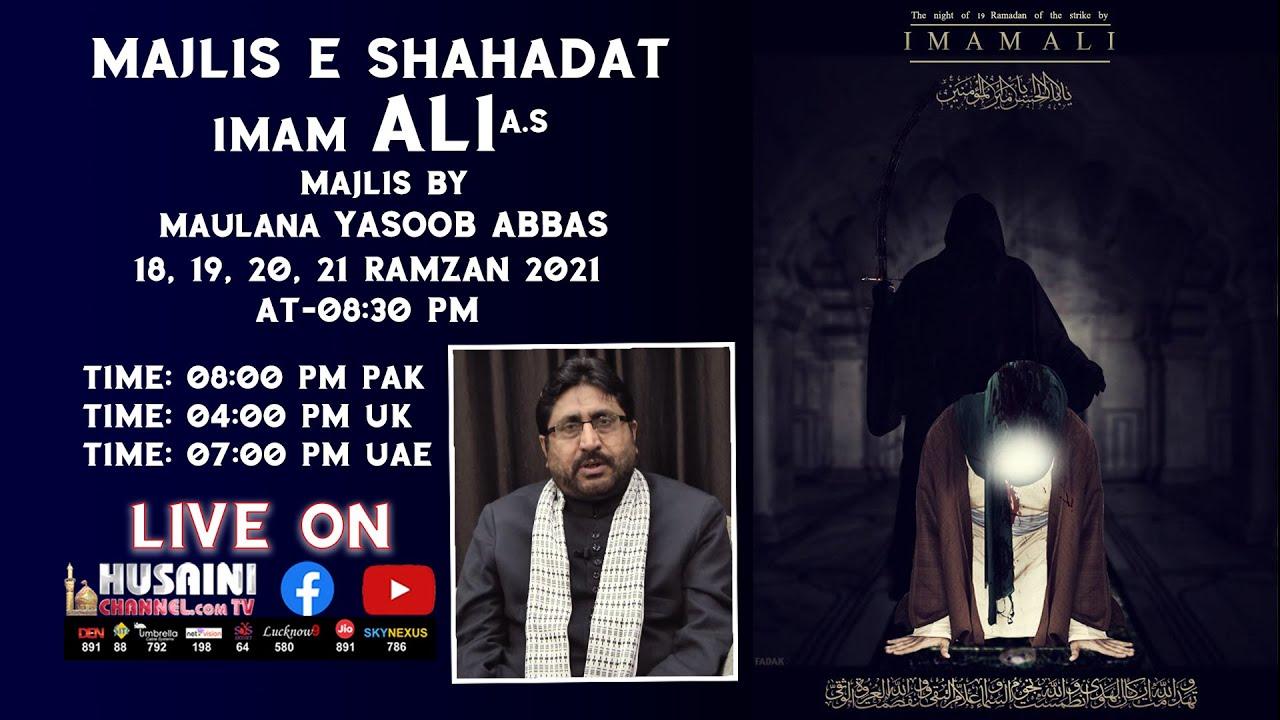 Download 🔴LIVE   ALVIDAYEE MAJLIS E SHAHADAT IMAM ALI A.S.   MAULANA DR. YASUB ABBAS   21 RAMZAN