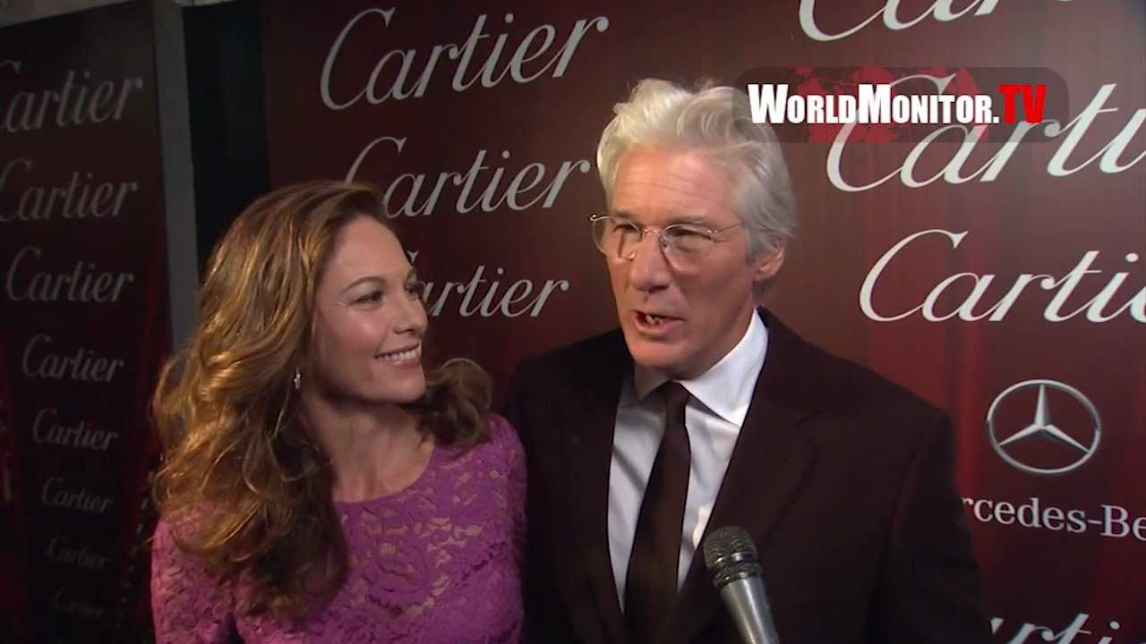 Richard Gere reunited with Diane Lane. | Stars Descend on ... |Franco And Diane Lane Richard Gere
