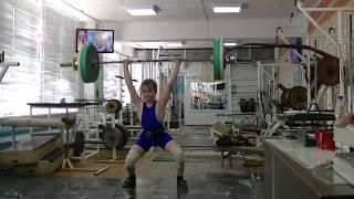 Маклаков Тимур, 13 лет, вк 50 Толчок 63 кг  На грудь  РЕКОРД!