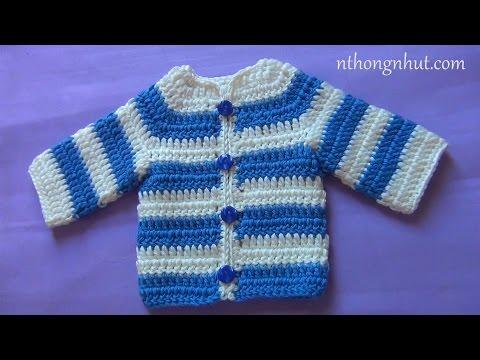 Hướng dẫn móc áo len bé trai: bé sơ sinh