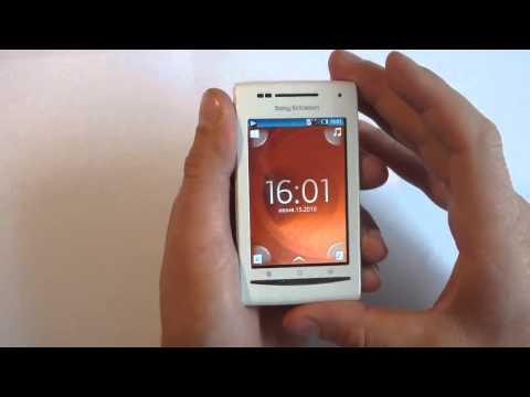 Sony Ericsson XPERIA X8 обзор по русски