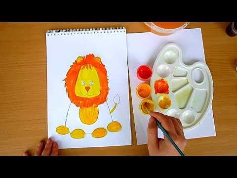2 клас. Мистецтво. Малюємо руде левеня