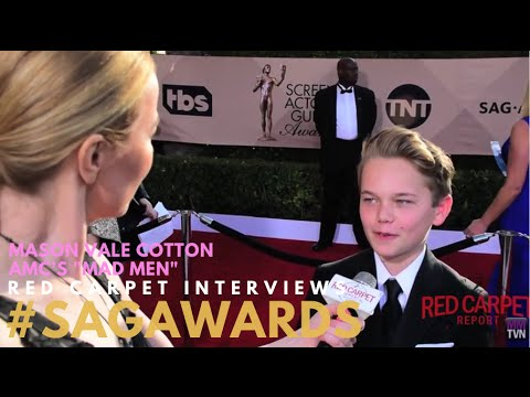 Mason Vale Cotton MadMen on the 22nd Annual Screen Actors Guild Awards Red Carpet SAGAwards