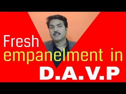 Fresh empanelment open in DAVP,  How to apply in DAVP?