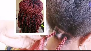 How to - Box braid my mum's hair the (BEST) old fashion way😅