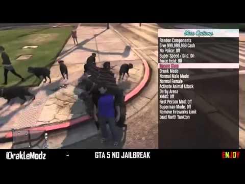 Jailbreak download no 1.26 menu ps3 mod 5 gta