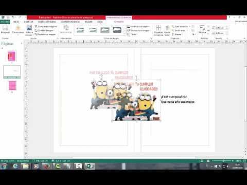 Tarjetas De Cumpleaños En Publisher Youtube