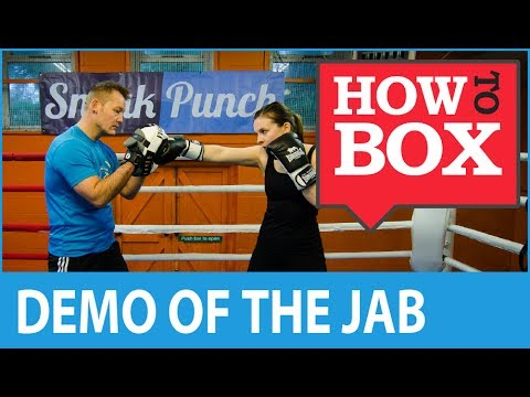 Demonstrating the Jab - Boxing Techniques