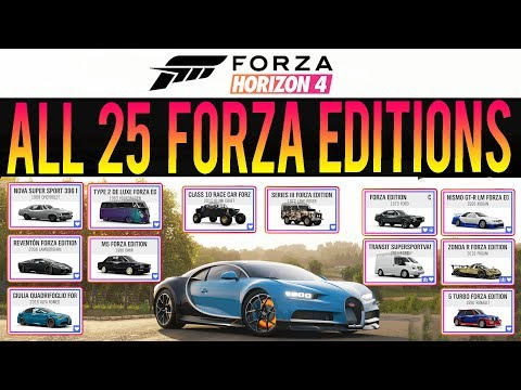 Forza Horizon 4 - EVERY FORZA EDITION CAR IN THE GAME! - All 25 FE Cars! thumbnail