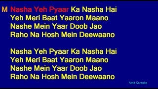 Nasha Yeh Pyar Ka Nasha Hai - Udit Narayan Hindi Full Karaoke with Lyrics