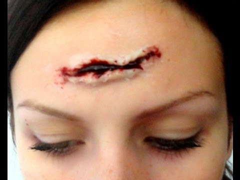 Maquillage d 39 halloween effets sp ciaux coupure youtube - Maquillage cicatrice halloween ...