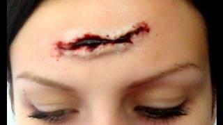 Maquillage d'Halloween : effets spéciaux - coupure