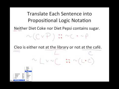 Lets Practice With Propositional Logic Notation And Truth Tables
