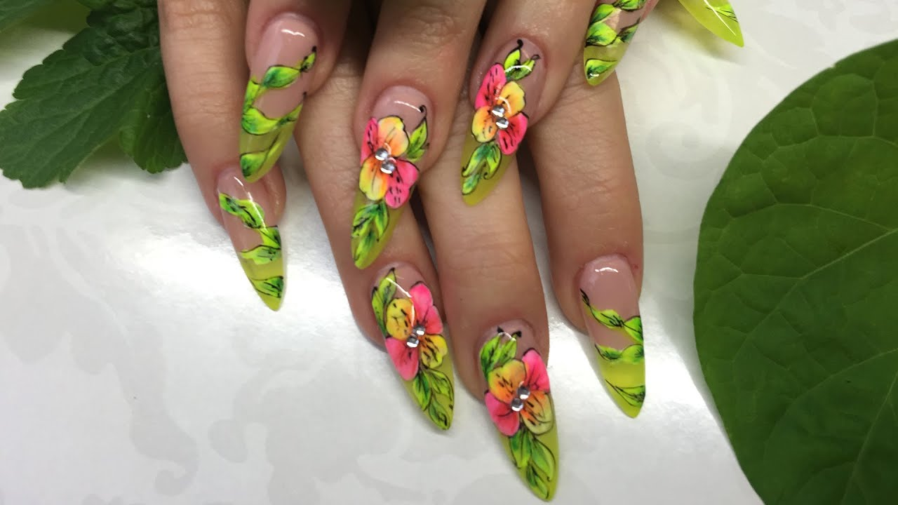 Floristic Nail Art Decoration How To Create Beautiful Nail