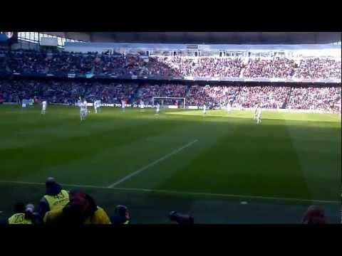 Leeds fans Pre-Match sing song at City away