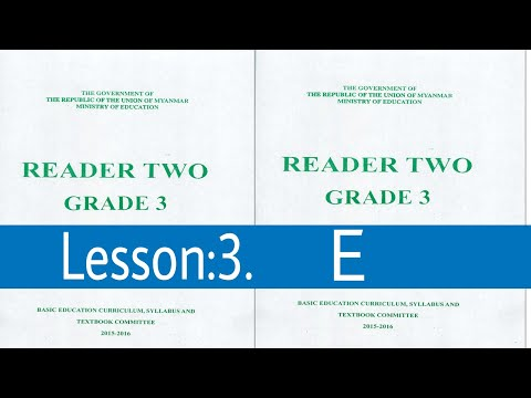 Lesson:3.E Myanmar textbook grade 3 class 2 in Rohingya English Club