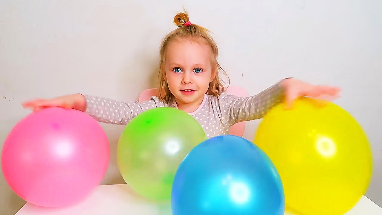 Learn Colors and Play with Balloons | Nursery Rhymes for children with kid Olivia