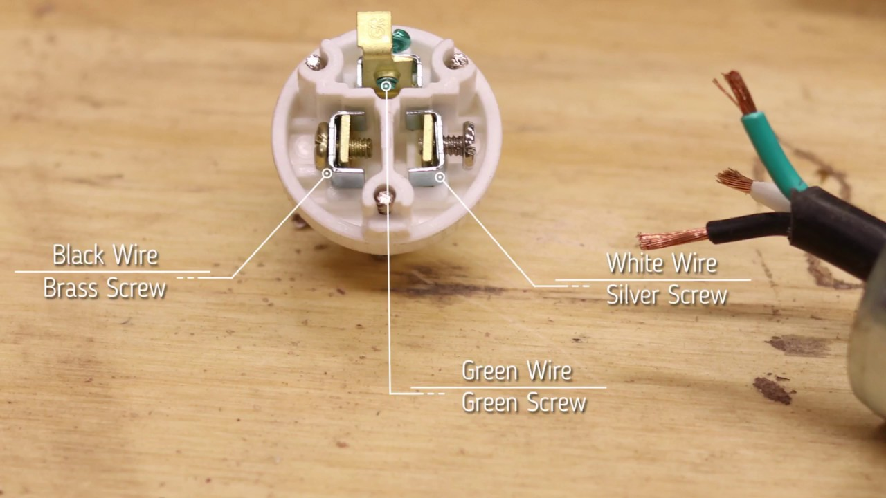 how to replace an extension cord plug youtube wiring plug to extension cord [ 1280 x 720 Pixel ]