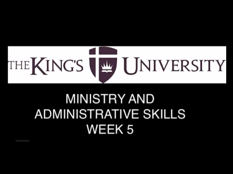 Ministry and Administrative Skills - Working with Volunteers and Staff