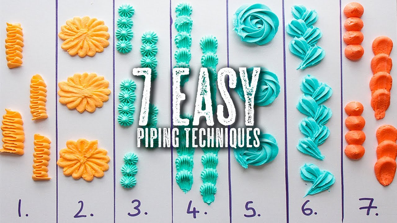 7 Easy Piping Techniques You Can Master Baker