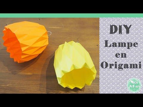 Lampe Origami Diy Tutoriel Suspension Youtube cT3lF1KJ