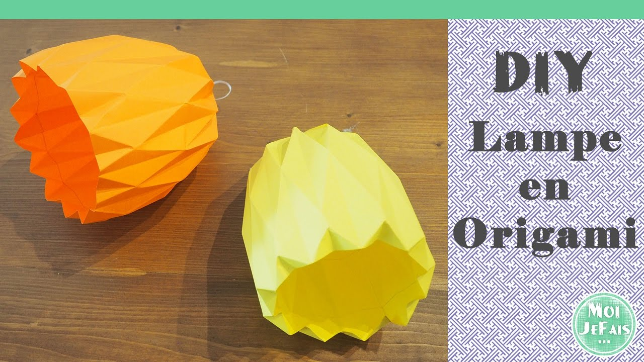 Diy Lampe Origami Suspension Origami Tutoriel Youtube
