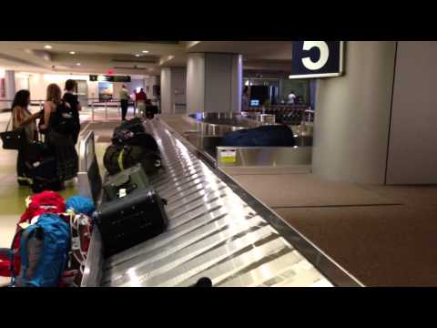 """First Time I've Seen This - A """"Smart"""" Luggage Belt at the Airport - May 16, 2013"""