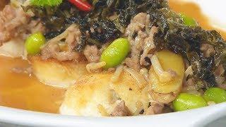 雪菜金菇煎燜豆腐  - 睇片學煮餸