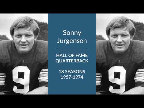 Sonny Jurgensen Hall of Fame Football Quarterback