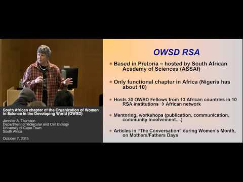 Organization of Women in Science in the Developing World, South Africa (OWSD) - Jennifer A. Thomson