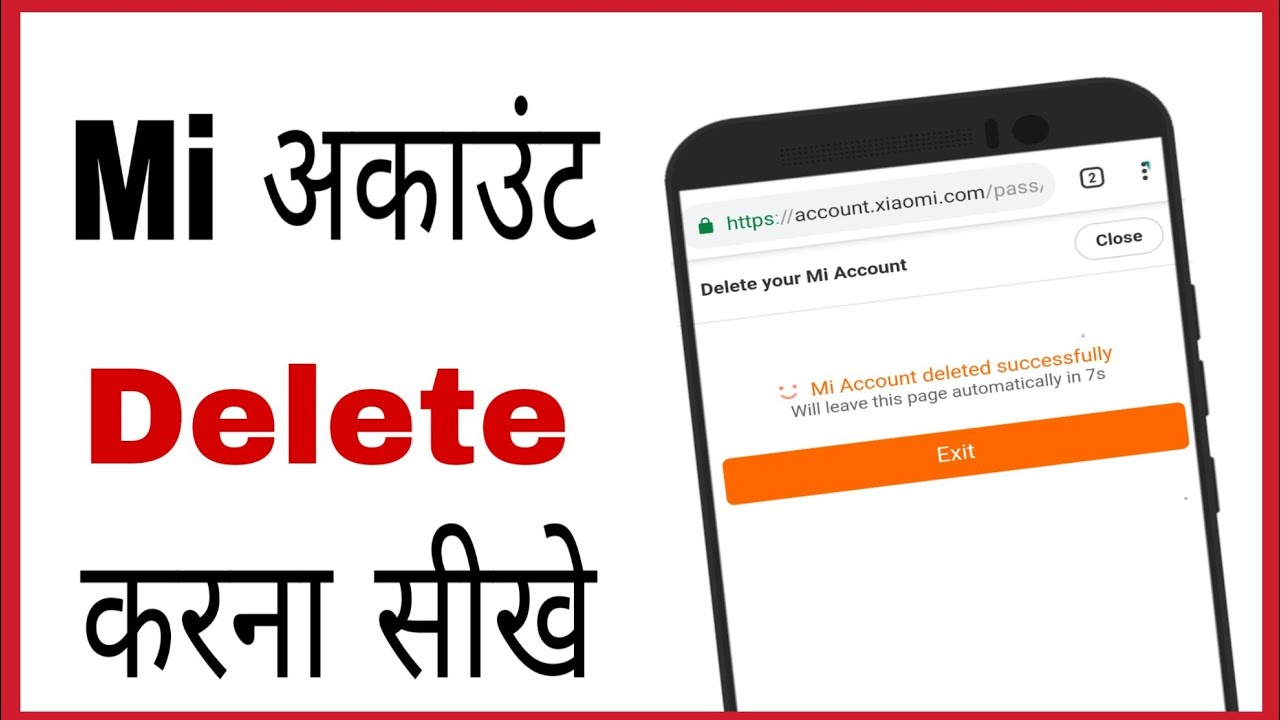 Mi account delete kaise kare | how to delete mi account permanently in hind