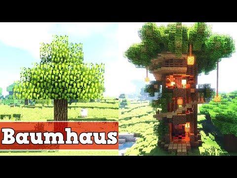 Minecraft Wie baut man ein Baumhaus   Minecraft Baumhaus bauen deutsch