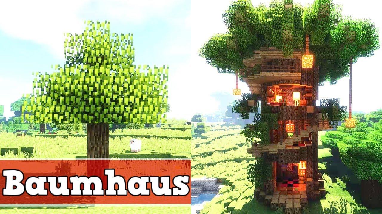 Minecraft Wie Baut Man Ein Baumhaus  Minecraft Baumhaus