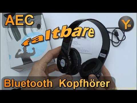 Kurztest: AEC BQ-605 (Banggood) / Faltbare Bluetooth Kopfhörer / FM Radio / microSD
