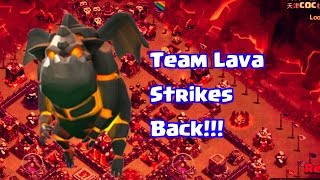 Clash of Clans | Team Lava Strikes Back! | 5 Lava Hounds Attack!