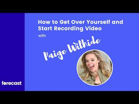 [AUDIO] How to Get Over Yourself and Start Recording Video with Paige Wilhide