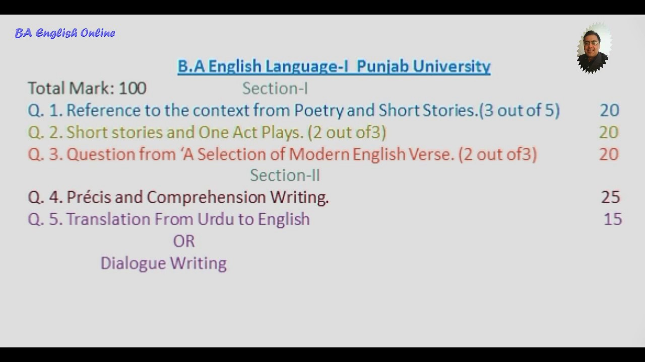 Ba English Notes Punjab University Pdf