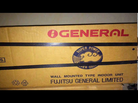 O General 1 5 Ton 5 Star Split Asga18ftta White Ac Youtube