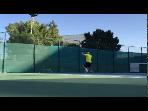 Alexander Klec Jr, Tennis Dubai, 2015, preparation, training footwork dynamics