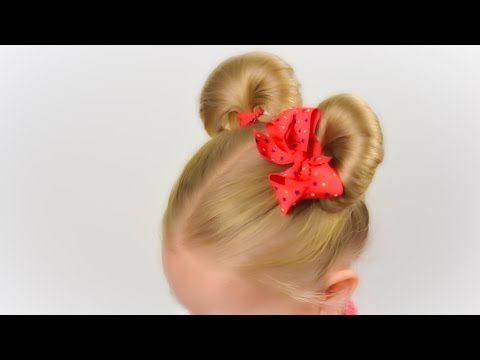 Minnie Mouse ears hairsyle. Party hairstyle #6 LittleGirlHair