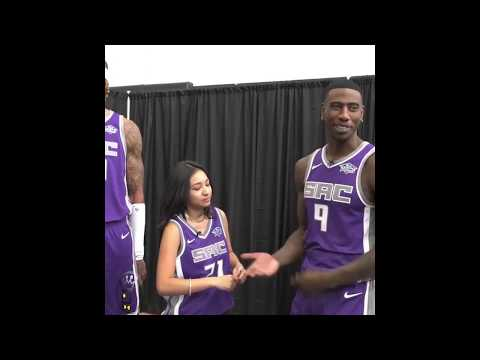 These Sacramento Kings NBA Players Are SHOCKED at The Magic Tricks LoL
