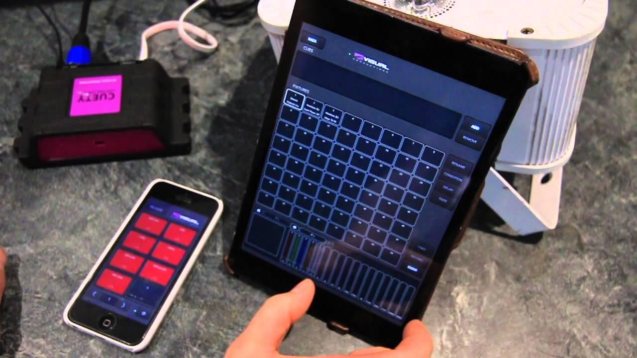 CUETY tutorial  Visual Productions iPad iPhone DMX lighting controller