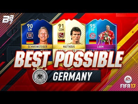 BEST POSSIBLE GERMANY TEAM! w/ TOTS SCHWEINSTEIGER AND END OF ERA LAHM! | FIFA 17