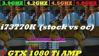 i7 3770K (Stock VS OC)+ GTX1080Ti AMP - FINAL FANTASY XV WINDOWS EDITION BENCHMARK
