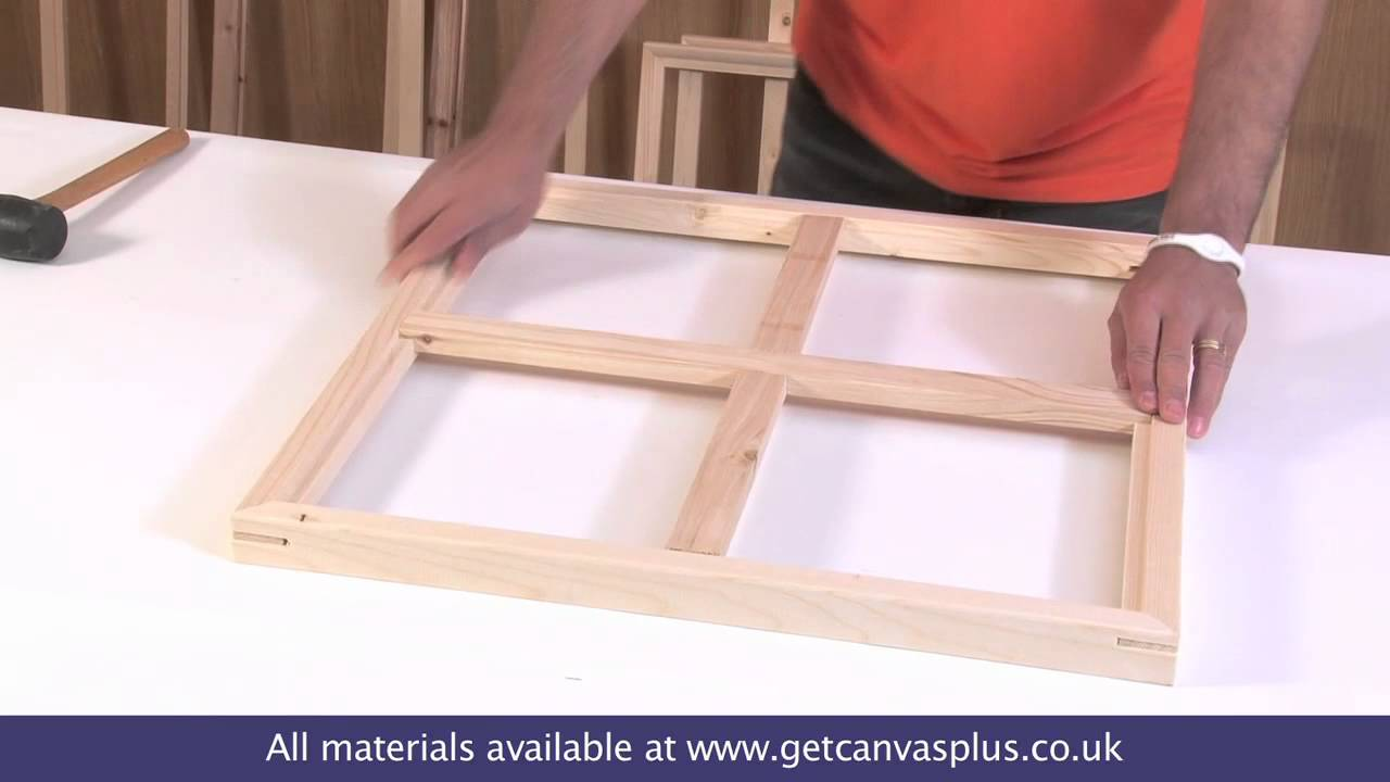 canvas stretcher frames fitting brace bars youtube. Black Bedroom Furniture Sets. Home Design Ideas
