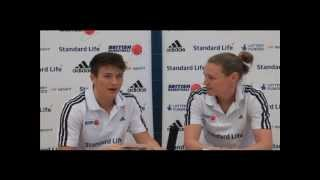 Stef Collins and Rachael Vanderwal chat ahead of EuroBasket Women 2013