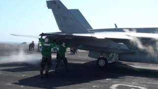 USS Nimitz Catapult Takeoff Operations
