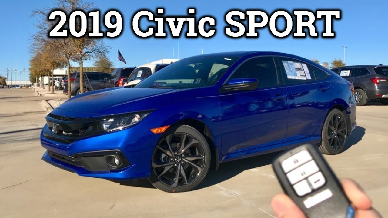 Refreshed 2019 Honda Civic Sport Review Drive Youtube